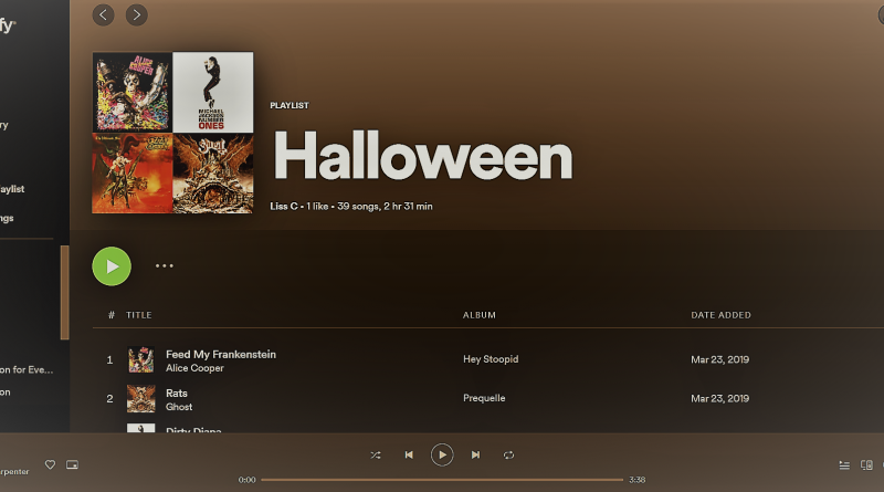 Halloween Playlist Cover - Melissa Caiazzo - Red River Horror